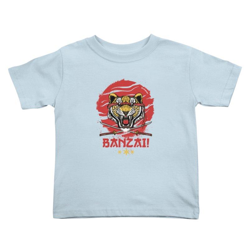 BANZAI! Kids Toddler T-Shirt by mewtate's Artist Shop
