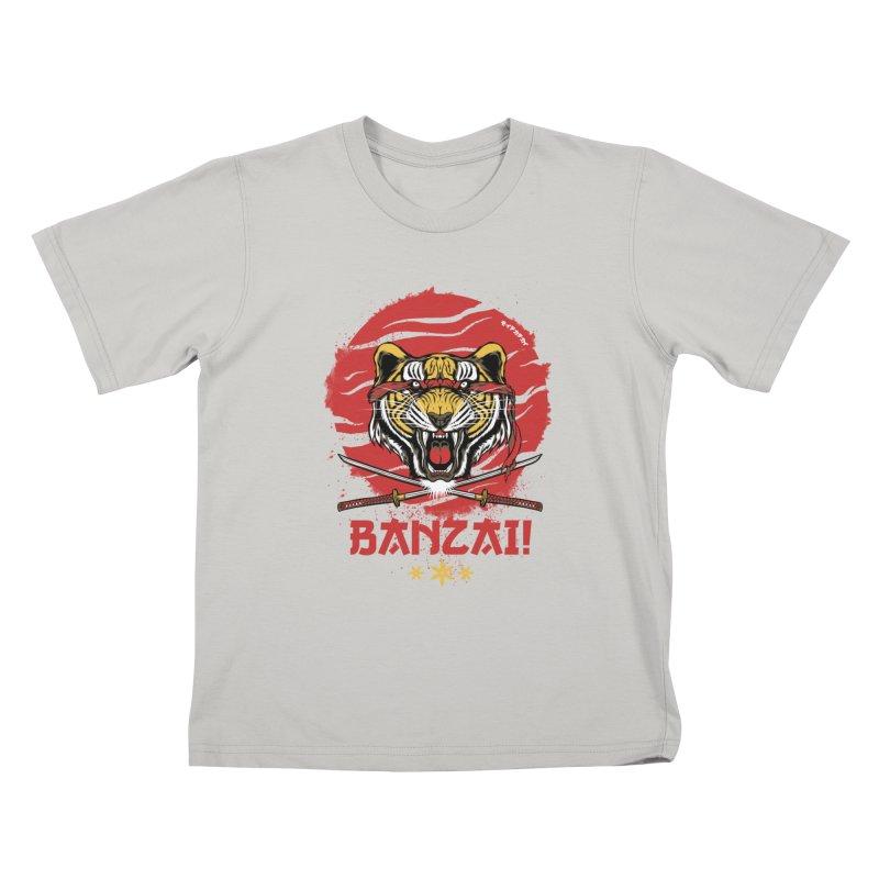 BANZAI! Kids T-Shirt by mewtate's Artist Shop