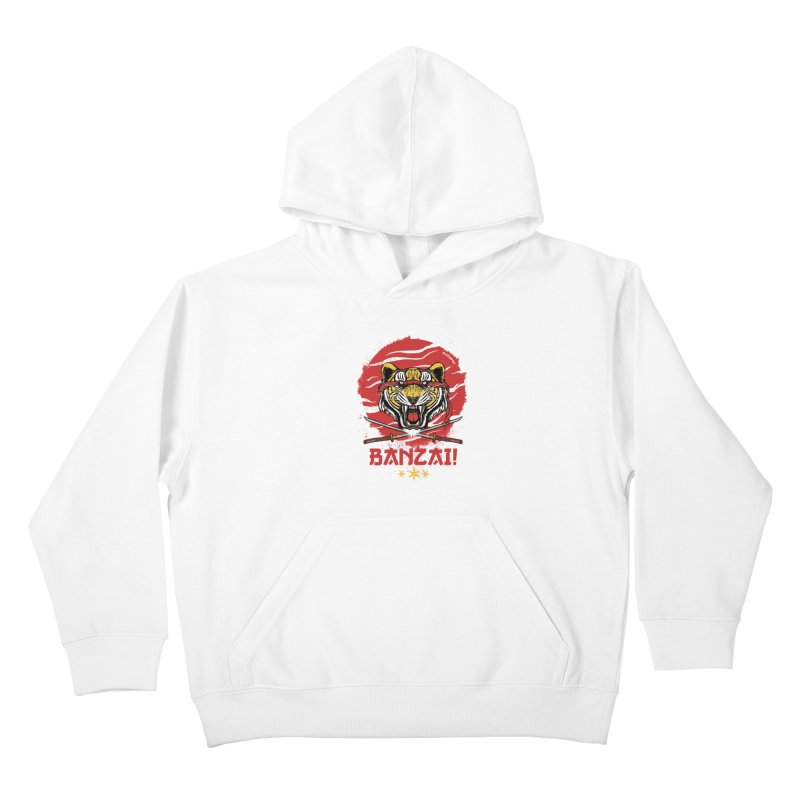 BANZAI! Kids Pullover Hoody by mewtate's Artist Shop