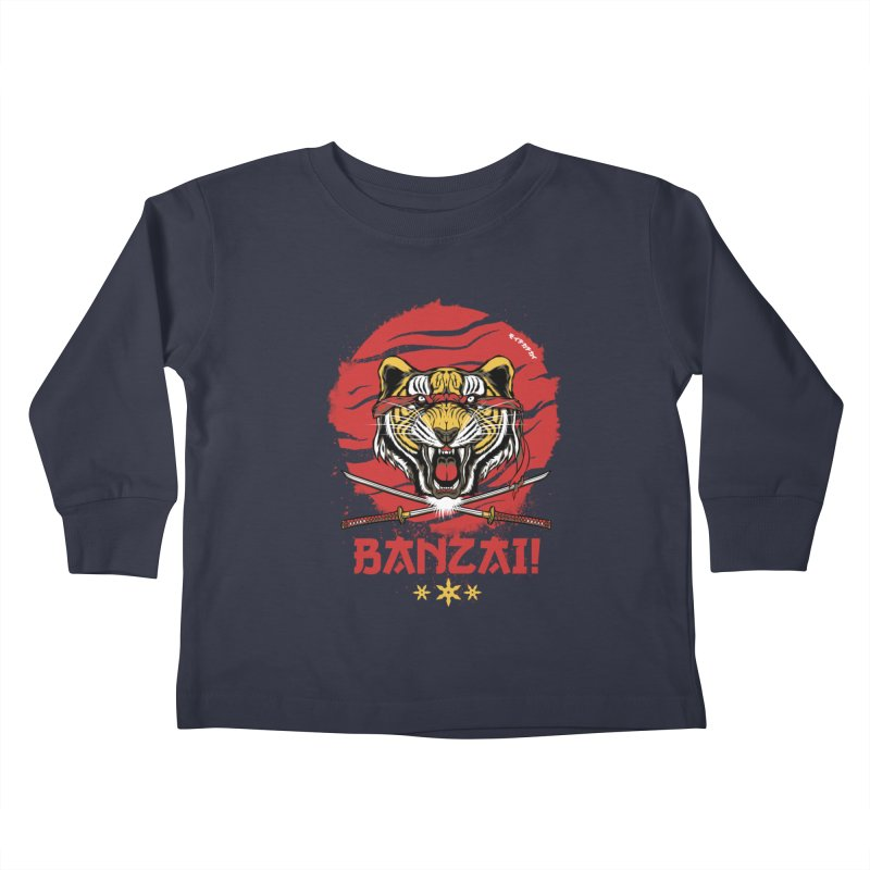 BANZAI! Kids Toddler Longsleeve T-Shirt by mewtate's Artist Shop