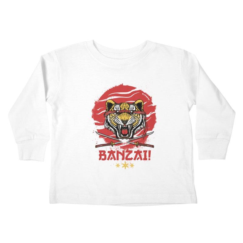 BANZAI! Kids Toddler Longsleeve T-Shirt by mewtate's Artist Shop