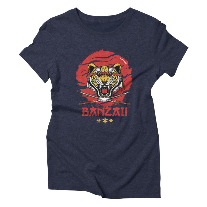 BANZAI! Women's Triblend T-Shirt by mewtate's Artist Shop