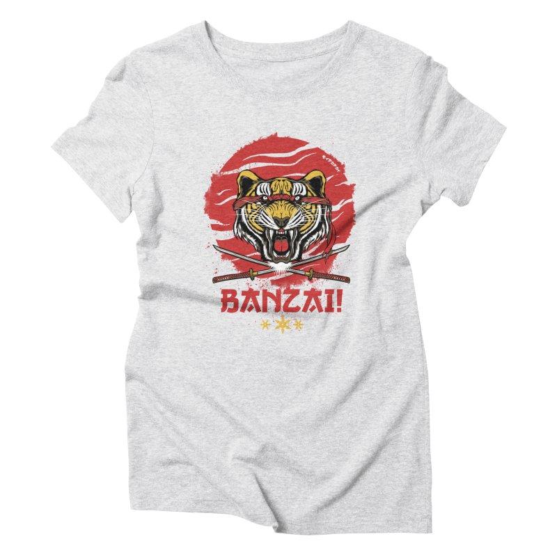 BANZAI! Women's Triblend T-Shirt by mewtate's Artist Shop