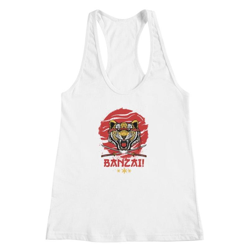 BANZAI! Women's Racerback Tank by mewtate's Artist Shop