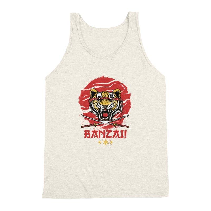 BANZAI! Men's Triblend Tank by mewtate's Artist Shop