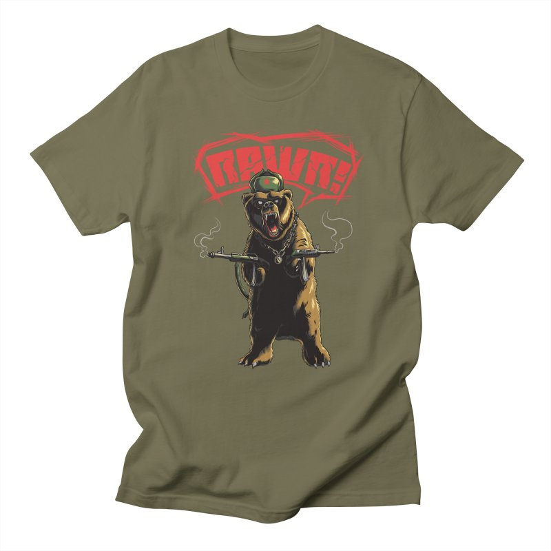 Mishka in Men's T-Shirt Olive by mewtate's Artist Shop