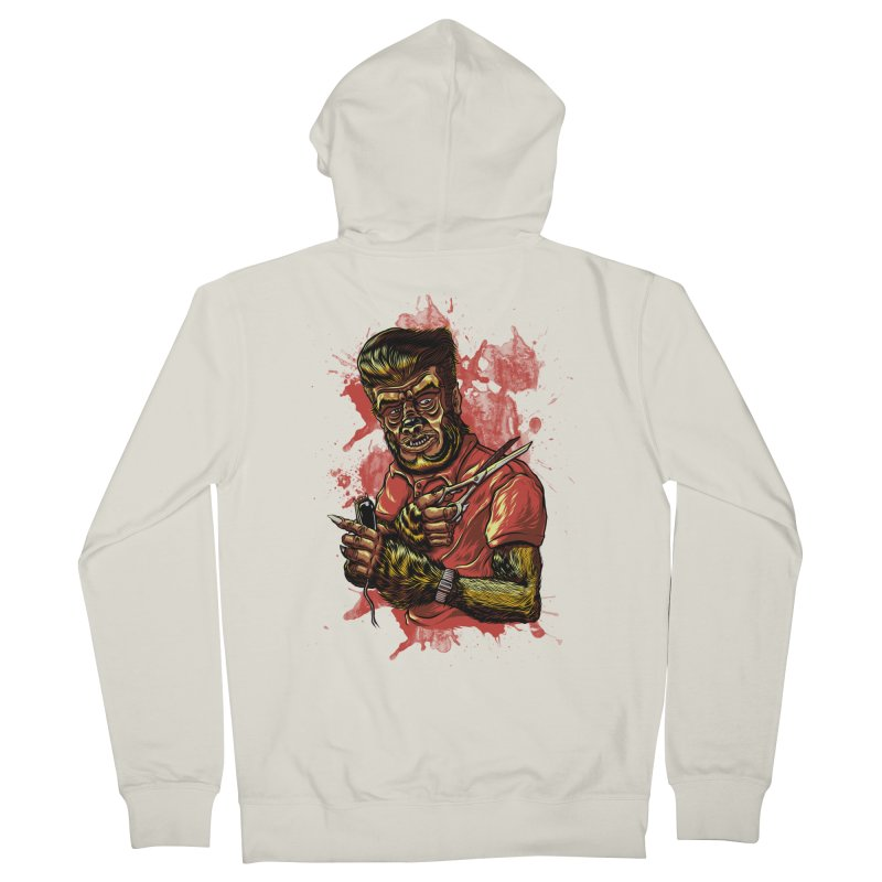 The Wolf Barber of Flee! Steet Men's Zip-Up Hoody by mewtate's Artist Shop