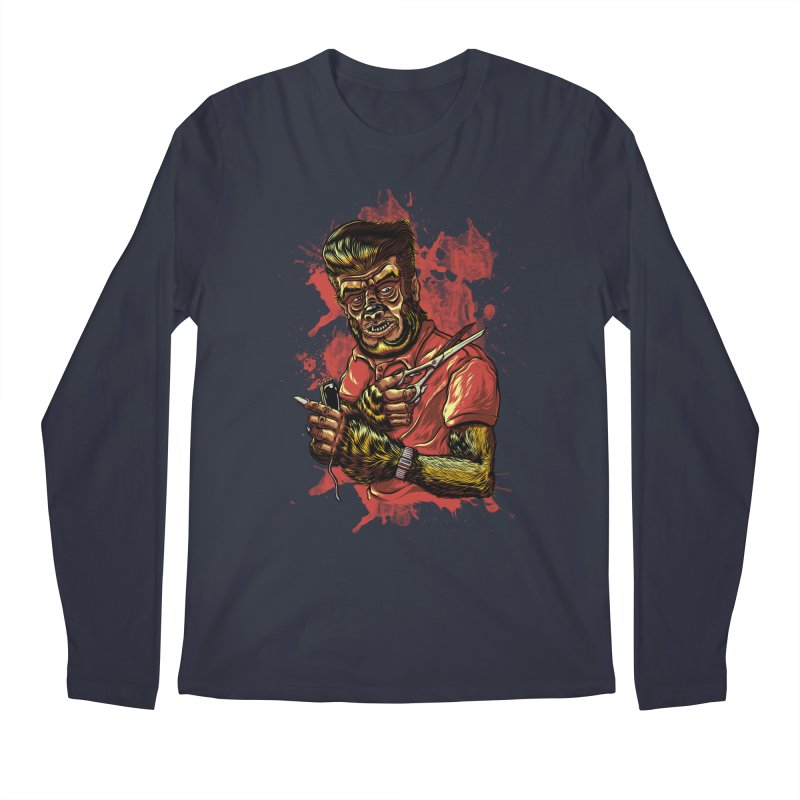 The Wolf Barber of Flee! Steet Men's Longsleeve T-Shirt by mewtate's Artist Shop