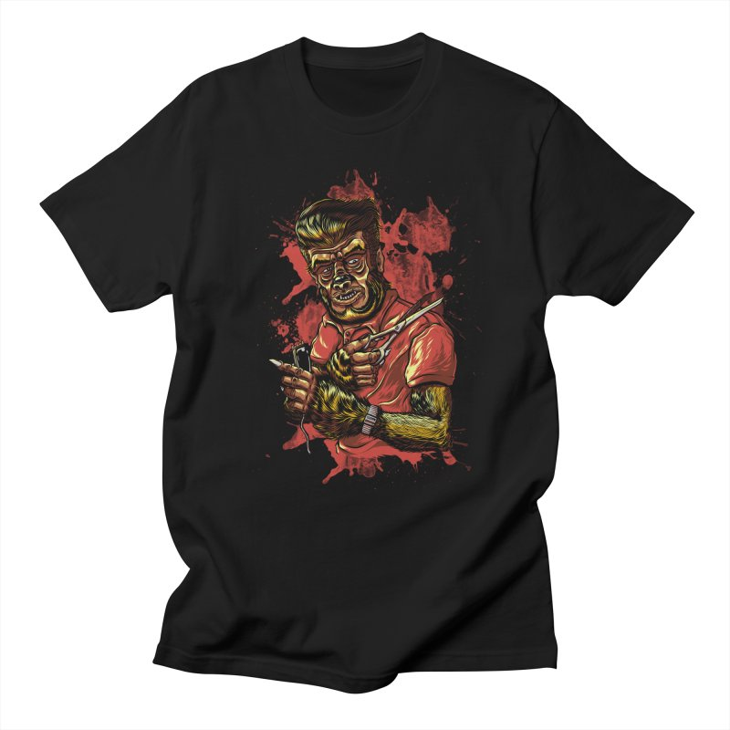 The Wolf Barber of Flee! Steet in Men's T-Shirt Black by mewtate's Artist Shop