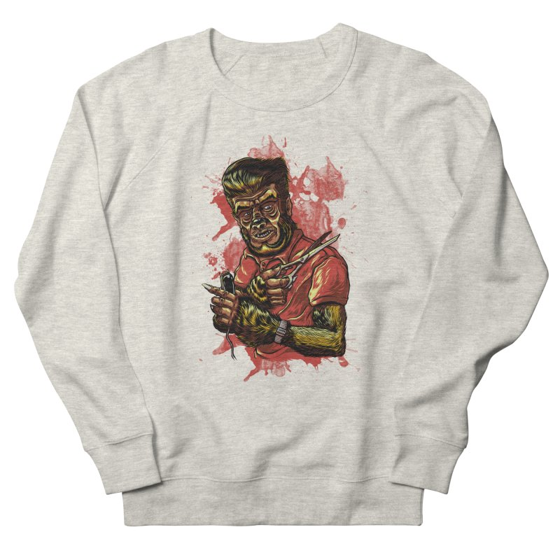 The Wolf Barber of Flee! Steet Women's Sweatshirt by mewtate's Artist Shop
