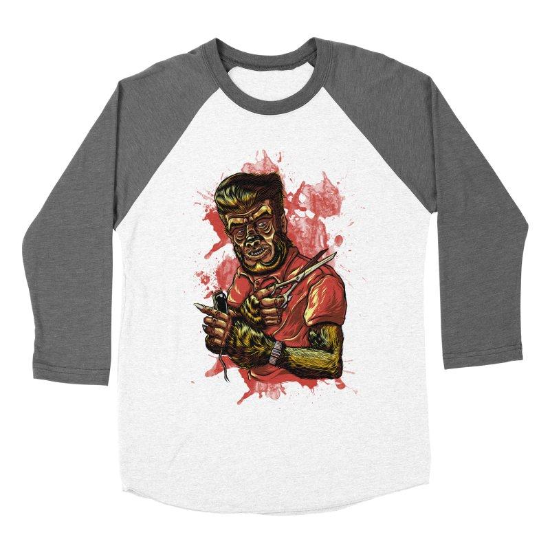 The Wolf Barber of Flee! Steet Men's Baseball Triblend T-Shirt by mewtate's Artist Shop