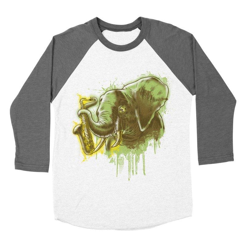 Elefunkaaz Men's Baseball Triblend T-Shirt by mewtate's Artist Shop