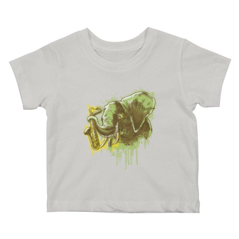 Elefunkaaz Kids Baby T-Shirt by mewtate's Artist Shop