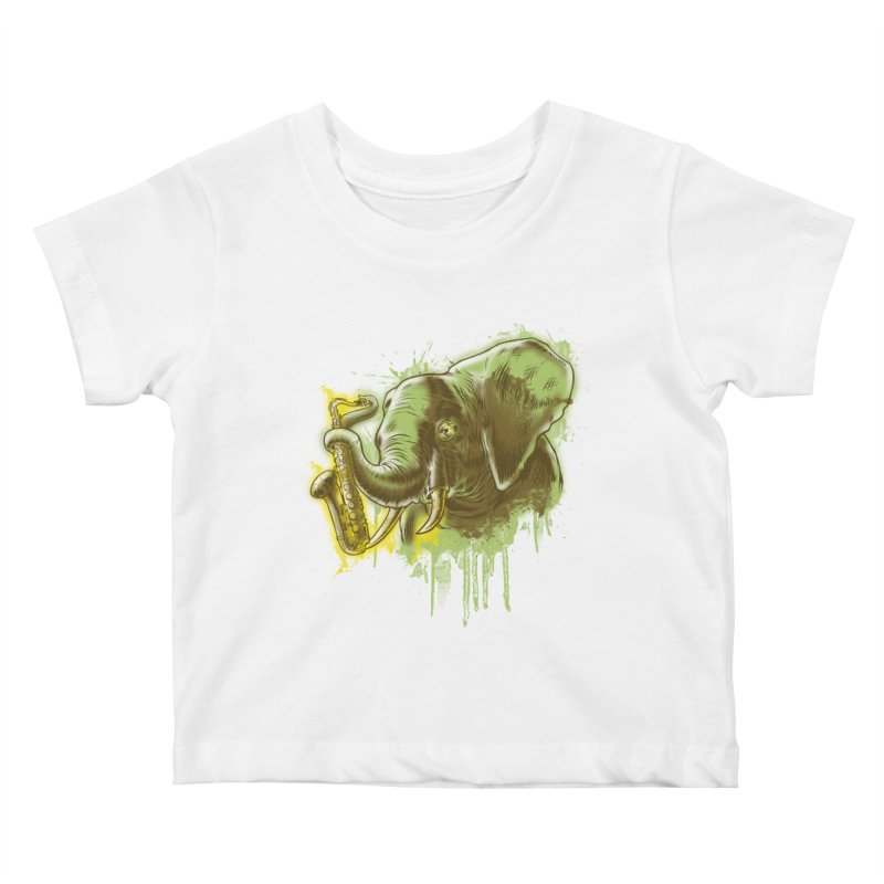 Elefunkaaz Kids Baby T-Shirt by mewtate's Artist Shop