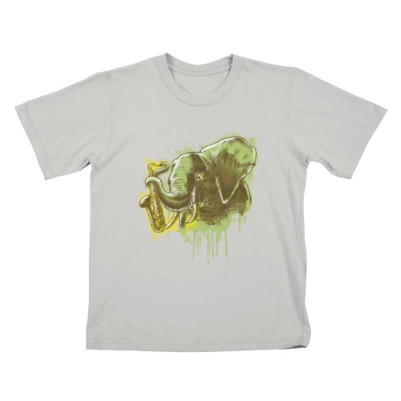 Elefunkaaz Kids T-Shirt by mewtate's Artist Shop