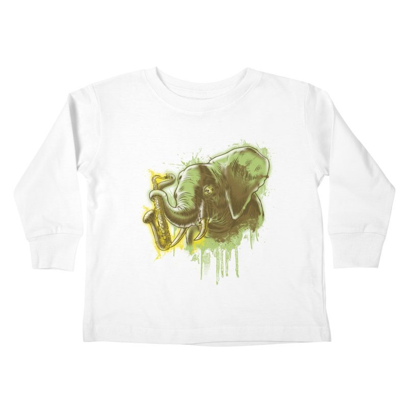 Elefunkaaz Kids Toddler Longsleeve T-Shirt by mewtate's Artist Shop