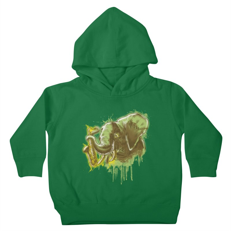 Elefunkaaz Kids Toddler Pullover Hoody by mewtate's Artist Shop
