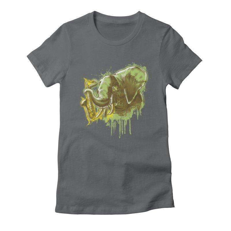 Elefunkaaz Women's Fitted T-Shirt by mewtate's Artist Shop