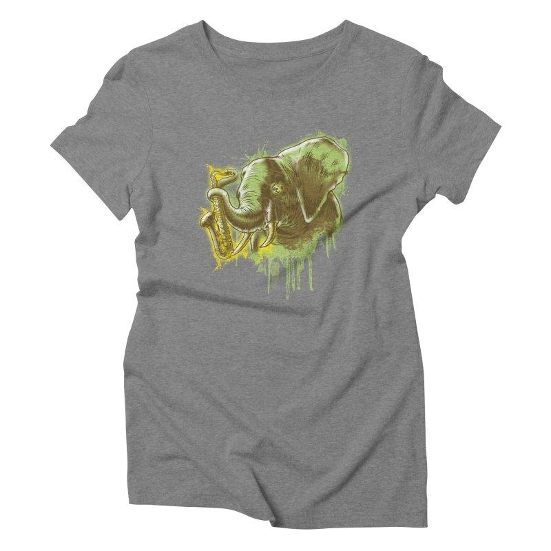 Elefunkaaz Women's Triblend T-Shirt by mewtate's Artist Shop