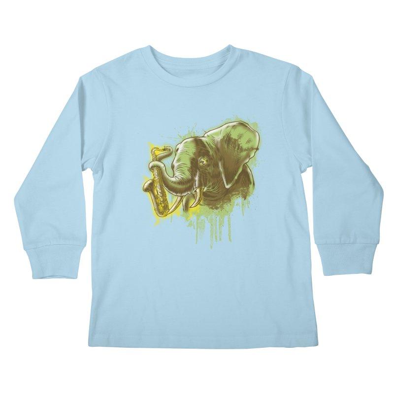 Elefunkaaz Kids Longsleeve T-Shirt by mewtate's Artist Shop