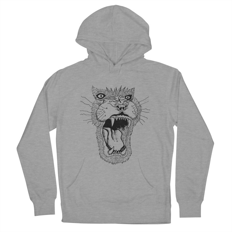 Blk Lion Roar Women's Pullover Hoody by Mexican Dave's Artist Shop