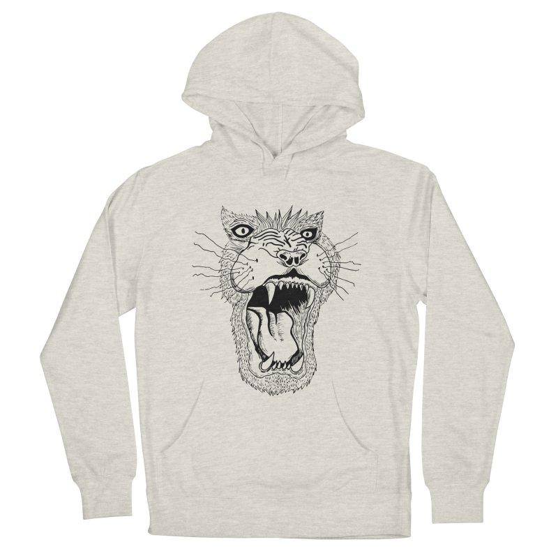 Blk Lion Roar Women's Pullover Hoody by Mexican Dave's Artist Shop