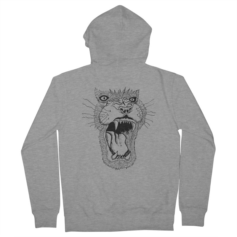 Blk Lion Roar Women's Zip-Up Hoody by Mexican Dave's Artist Shop