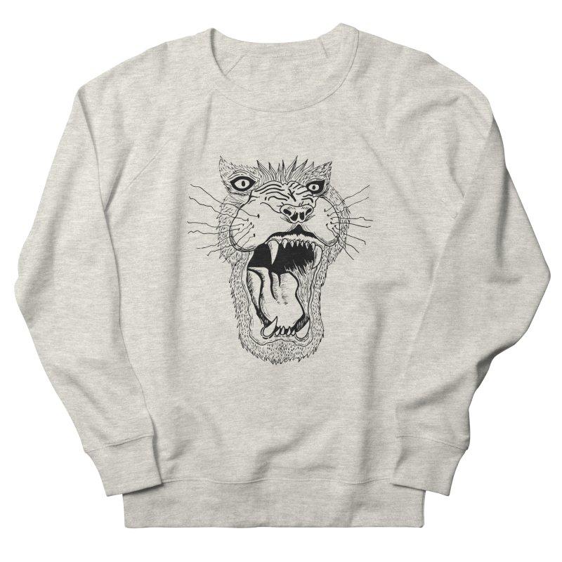 Blk Lion Roar Women's Sweatshirt by Mexican Dave's Artist Shop