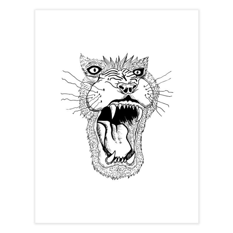 Blk Lion Roar Home Fine Art Print by Mexican Dave's Artist Shop