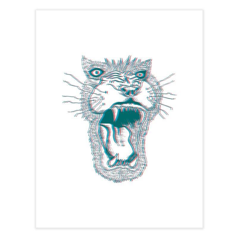 3D Lion Roar Home Fine Art Print by Mexican Dave's Artist Shop