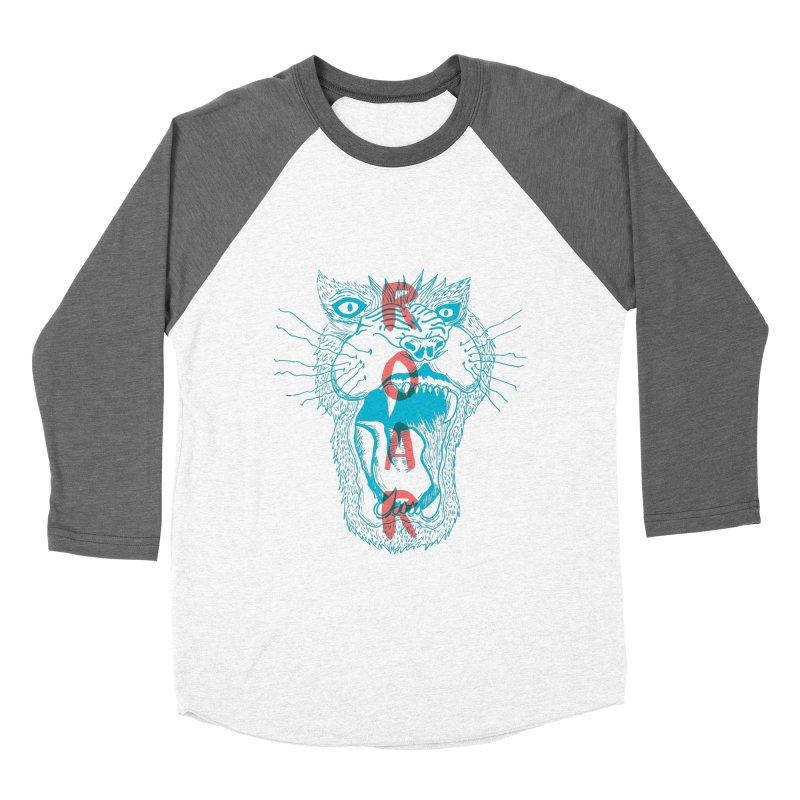 Lion Roar Women's Baseball Triblend T-Shirt by Mexican Dave's Artist Shop