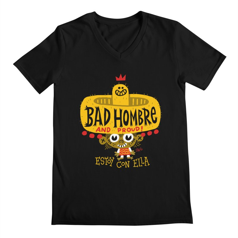 BAD HOMBRE Men's V-Neck by Super Macho Artist Shop