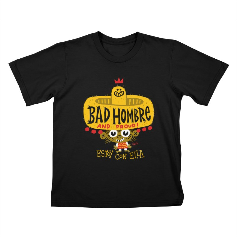 BAD HOMBRE Kids T-Shirt by Super Macho Artist Shop