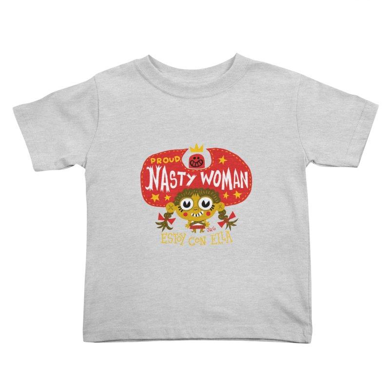 Nasty Woman Kids Toddler T-Shirt by Super Macho Artist Shop