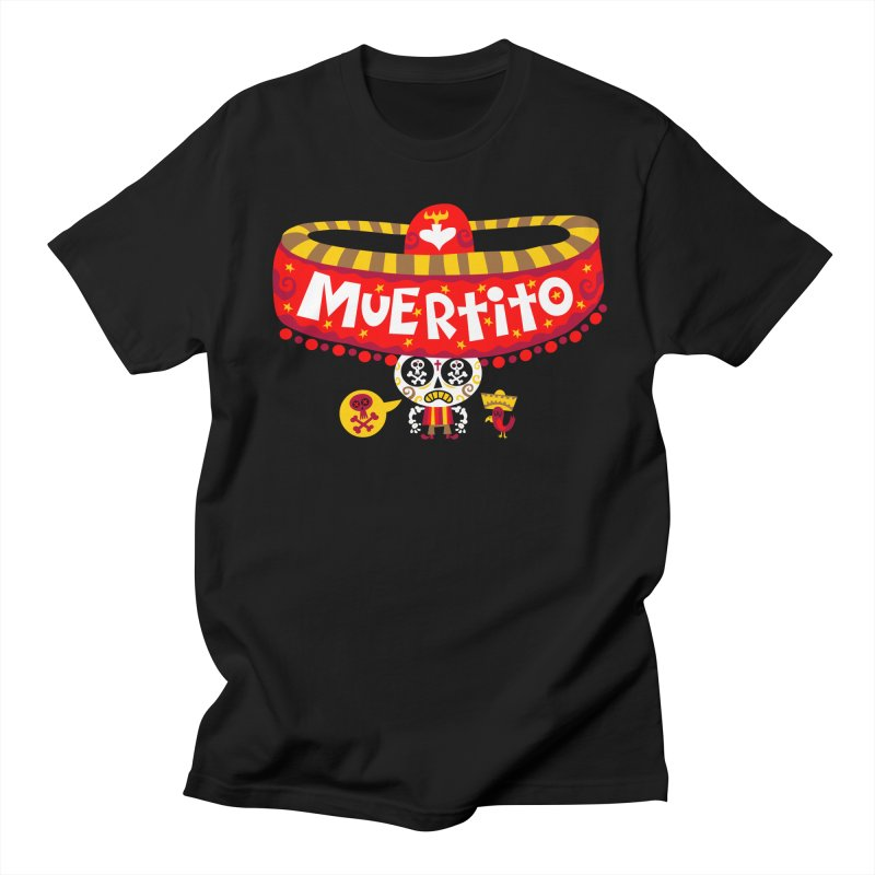 Muertito Men's Regular T-Shirt by Super Macho Artist Shop