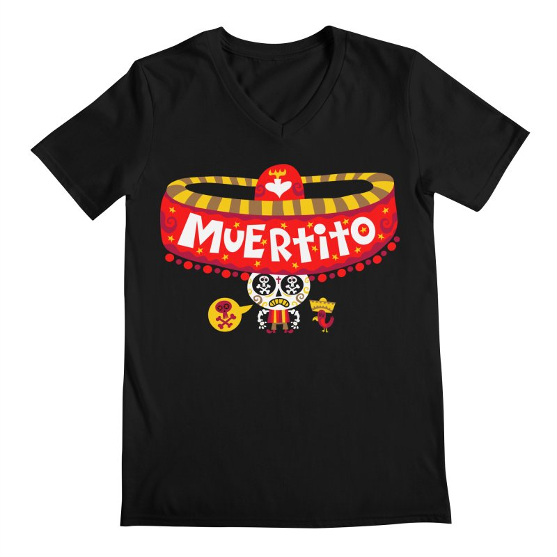 Muertito Men's V-Neck by Super Macho Artist Shop