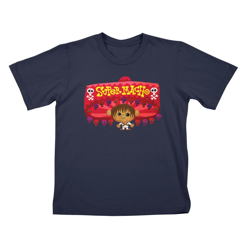 Super Macho Kid Kids T-Shirt by Super Macho Artist Shop