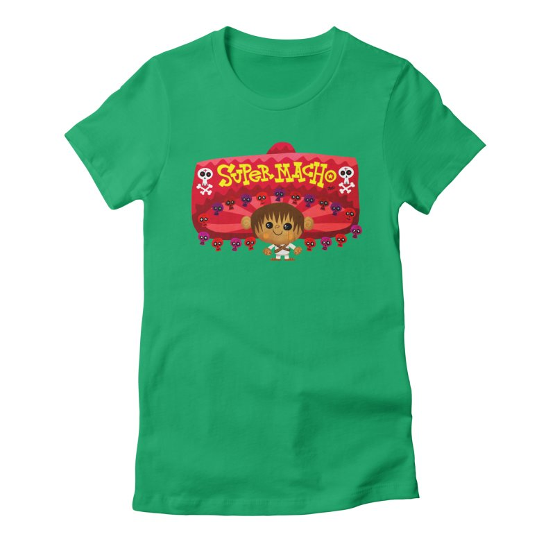 Super Macho Kid Women's Fitted T-Shirt by Super Macho Artist Shop