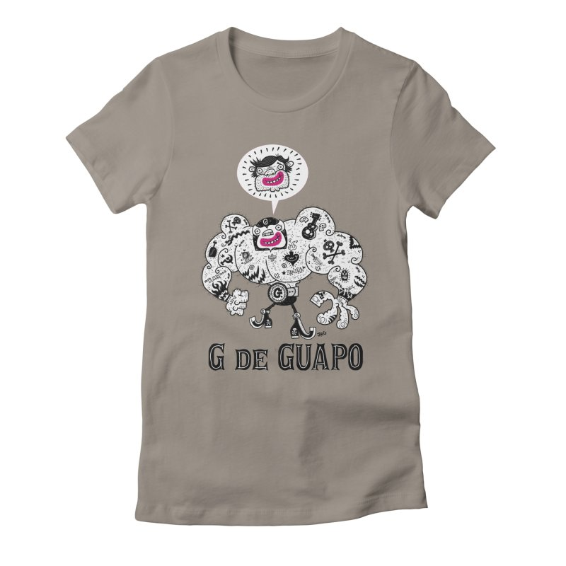 El Guapo Women's Fitted T-Shirt by Super Macho Artist Shop