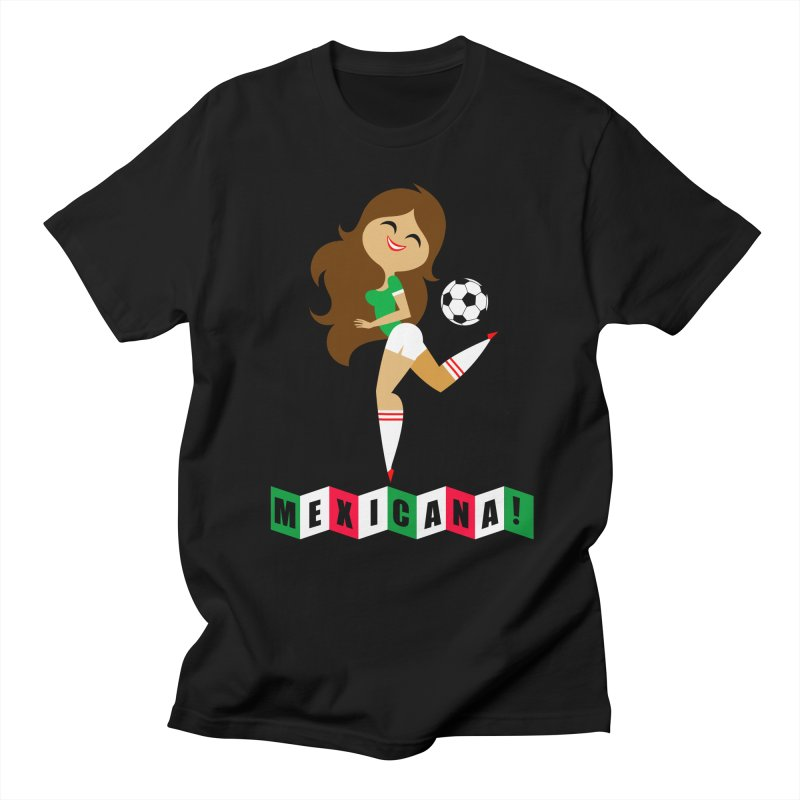 Mexicana Futbol Men's Regular T-Shirt by Super Macho Artist Shop