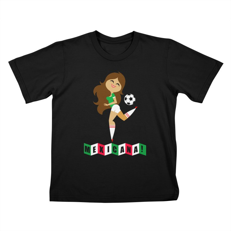 Mexicana Futbol Kids T-Shirt by Super Macho Artist Shop