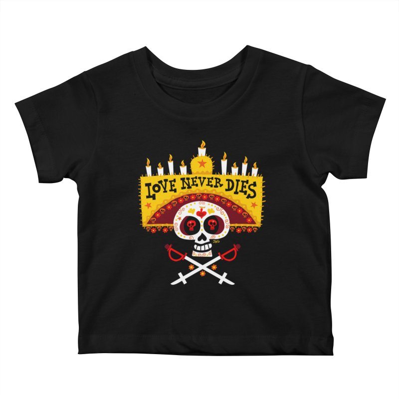 Love Never Dies Kids Baby T-Shirt by Super Macho Artist Shop