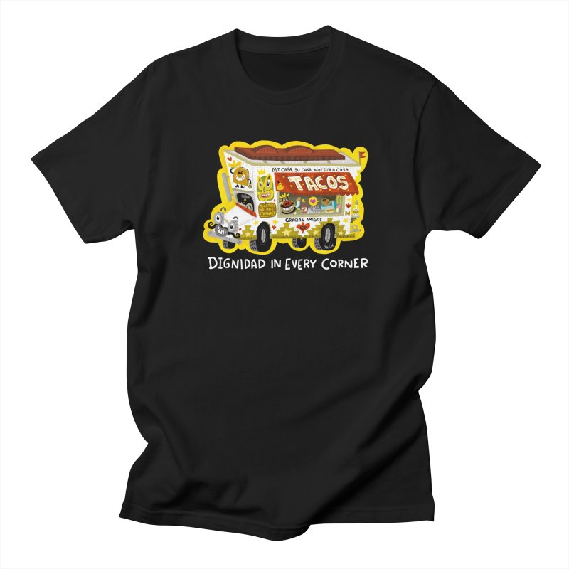 Taco Truck Men's Regular T-Shirt by Super Macho Artist Shop