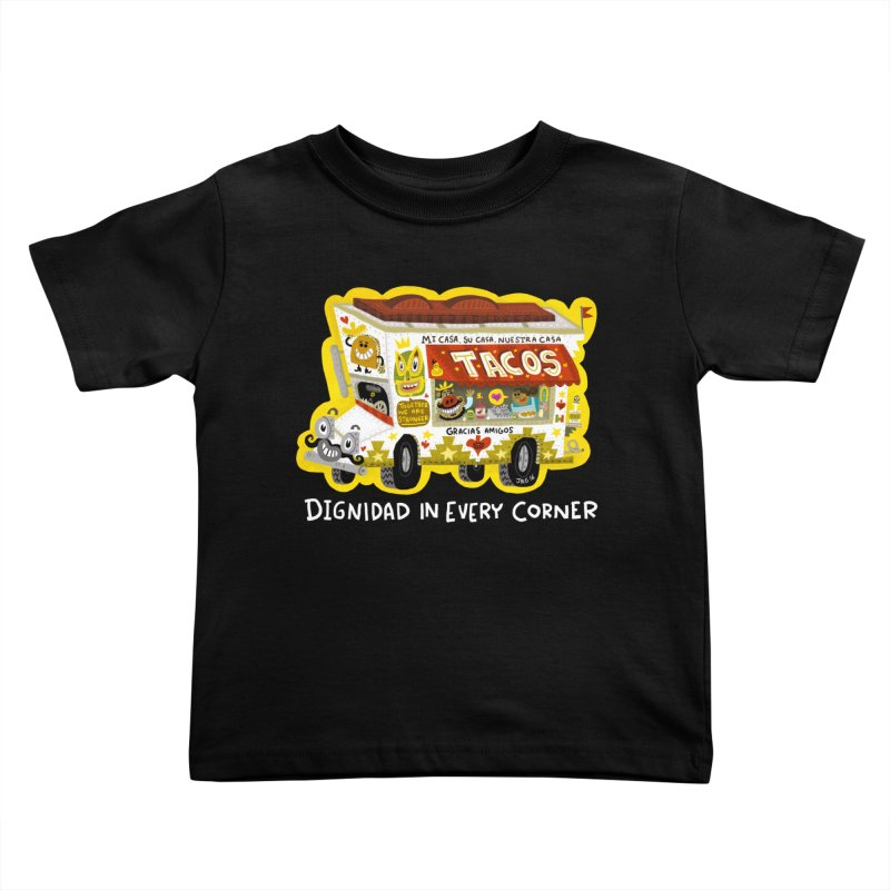 Taco Truck Kids Toddler T-Shirt by Super Macho Artist Shop