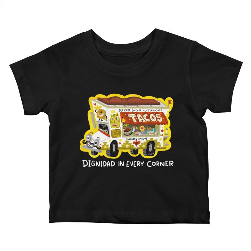 Taco Truck Kids Baby T-Shirt by Super Macho Artist Shop