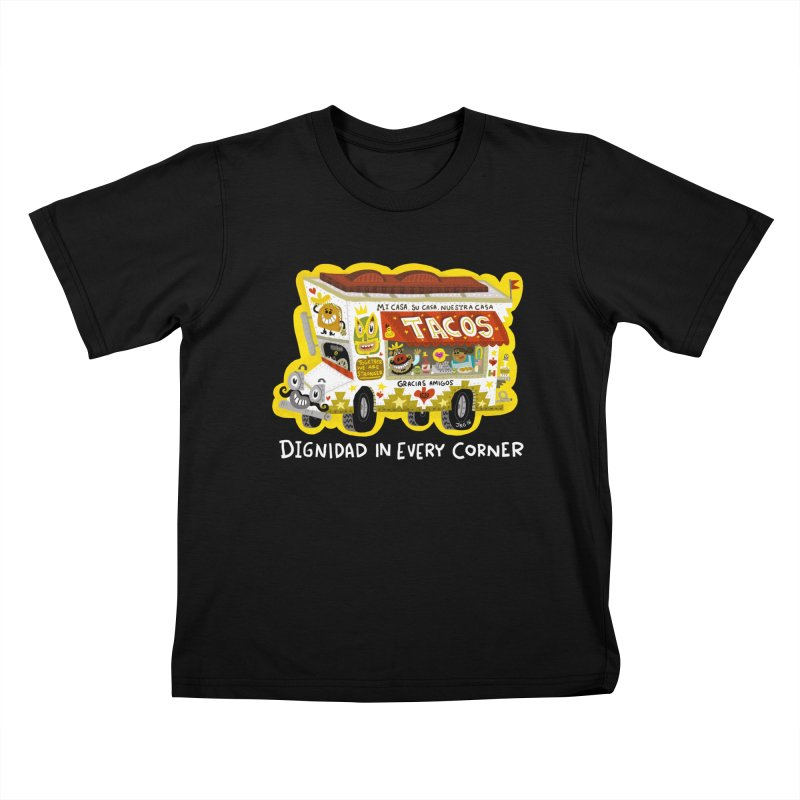 Taco Truck Kids T-Shirt by Super Macho Artist Shop