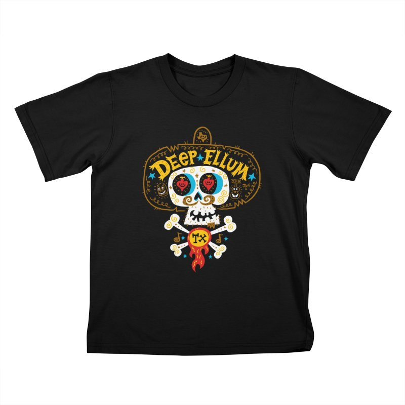 Deep Ellum  Kids T-Shirt by Super Macho Artist Shop