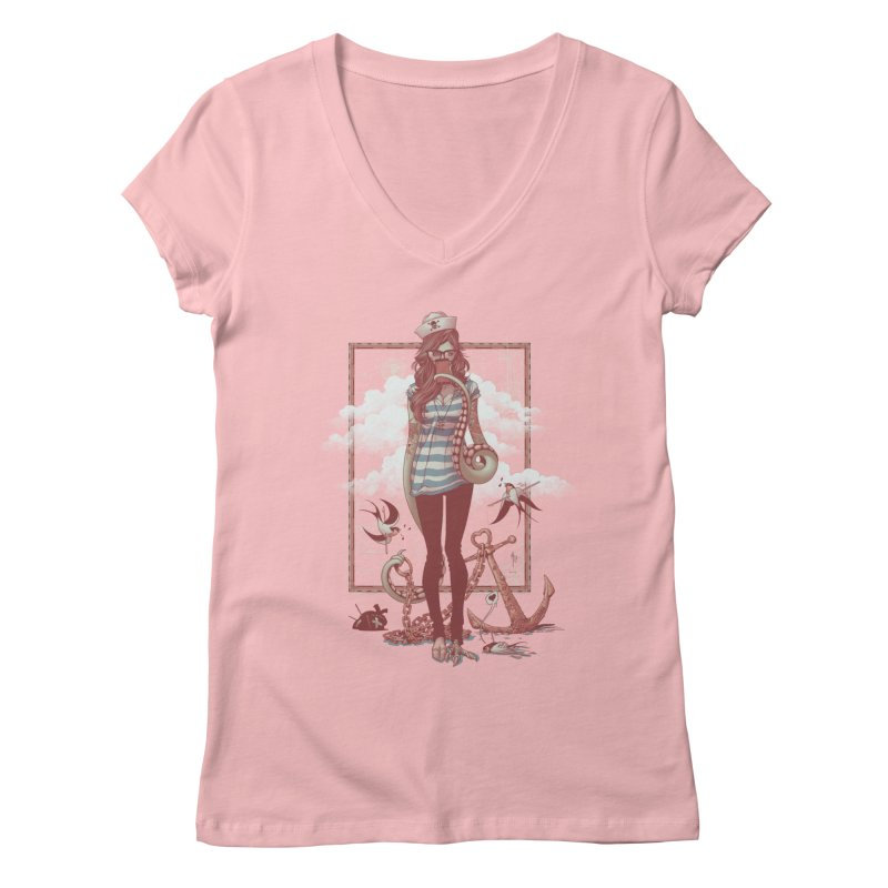 SELFIE- JoNAH Women's V-Neck by mfk00's Artist Shop