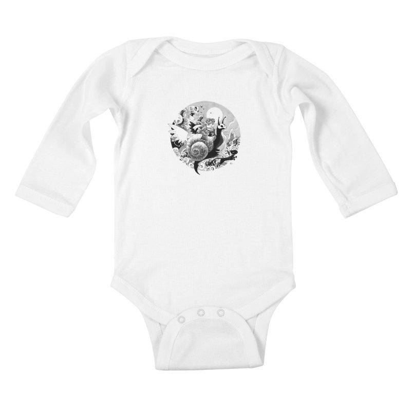 KAMIKAZE OF LOVE Kids Baby Longsleeve Bodysuit by mfk00's Artist Shop