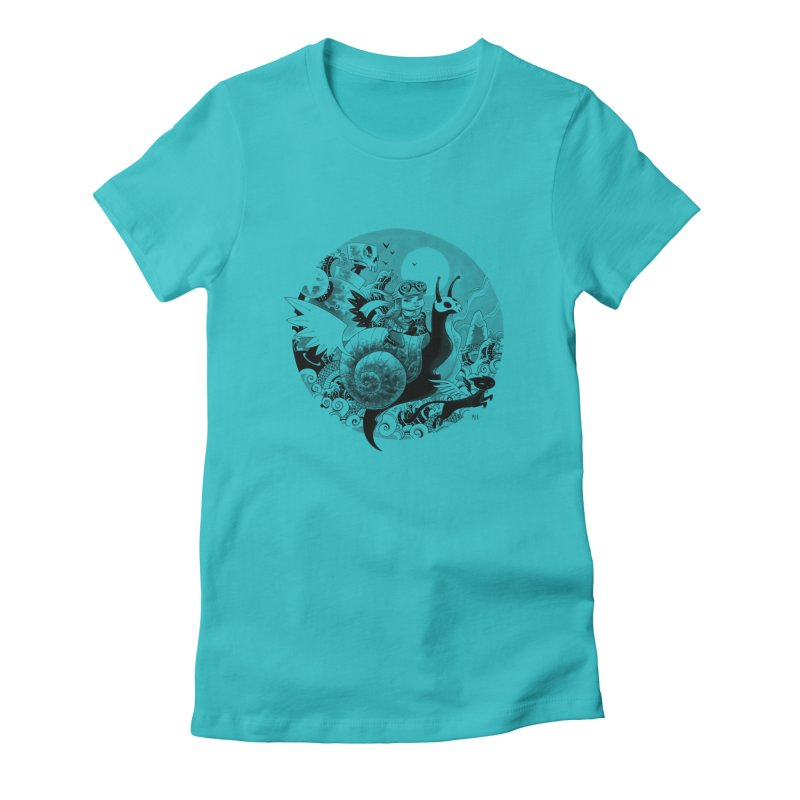 KAMIKAZE OF LOVE Women's Fitted T-Shirt by mfk00's Artist Shop